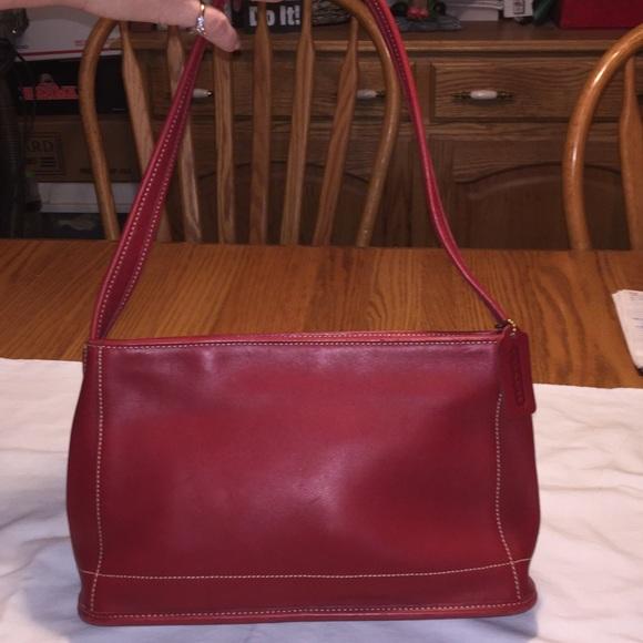 Red Coach shoulder purse